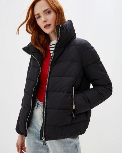 Утепленная куртка демисезонная черная Ostin