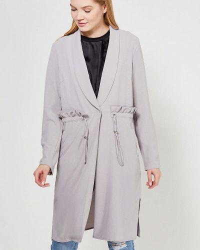 Серое пальто весеннее Lost Ink.