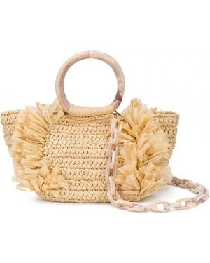 Коралловая нейлоновая сумка на плечо Carolina Santo Domingo