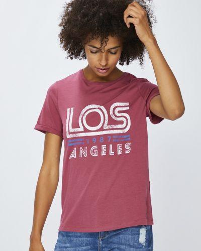 Фиолетовая футболка прямая Vero Moda