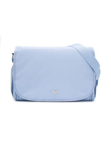 Niebieska torebka srebrna Emporio Armani Kids