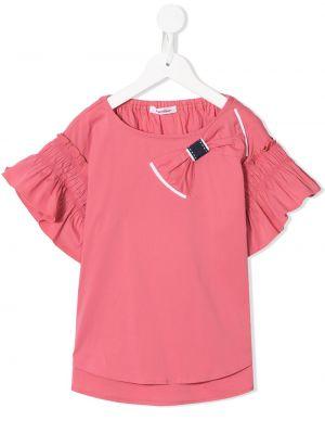 Хлопковый розовый с рукавами топ Familiar