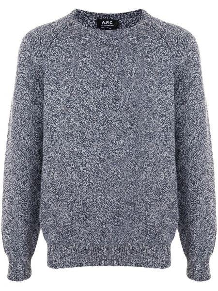 Wełniany biały pulower z długimi rękawami z mankietami A.p.c.