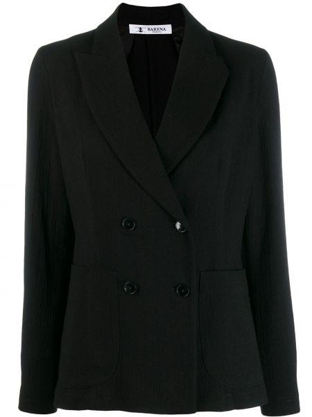 Классический пиджак черный в полоску Barena