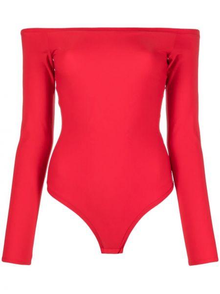 Czerwona bluzka z długimi rękawami Murmur