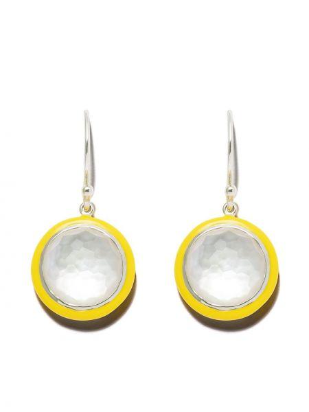 Желтые серебряные серьги с подвесками на крючках Ippolita