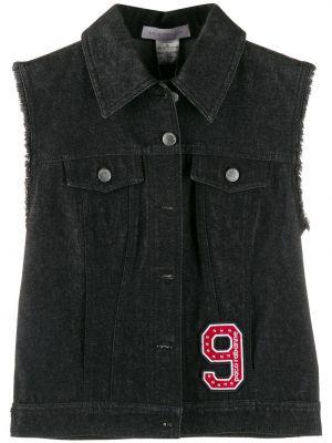 Черная жилетка с карманами металлическая Paco Rabanne Pre-owned