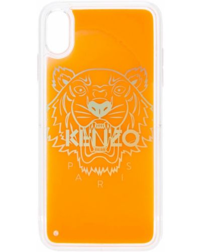 Оранжевый футляр для очков прозрачный Kenzo