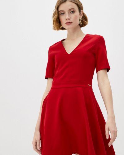 Красное вечернее платье Trussardi