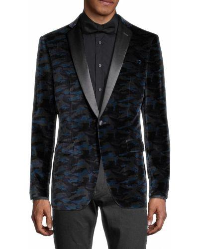 Czarna długa kurtka bawełniana z długimi rękawami John Varvatos Star Usa