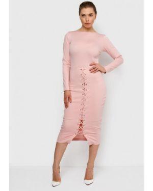 Платье розовое прямое Malaeva