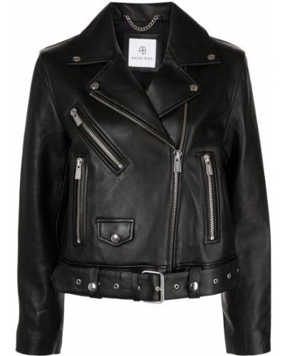 Черная куртка из нубука Anine Bing