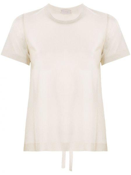 Бежевая блузка с короткими рукавами из вискозы Mrz