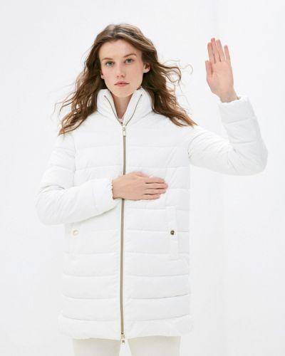 Утепленная белая куртка Geox