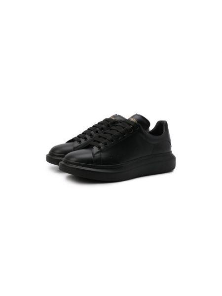 Кеды черные кожаный Alexander Mcqueen