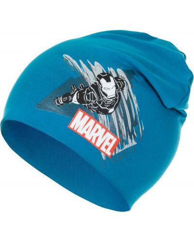 Синяя шапка трикотажная Demix