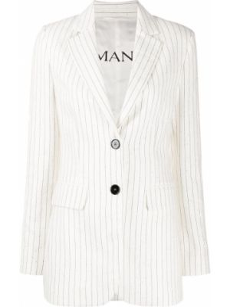 Хлопковый однобортный белый пиджак Ermanno Ermanno
