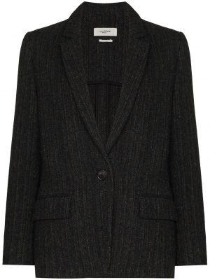 Черный пиджак твидовый Isabel Marant étoile
