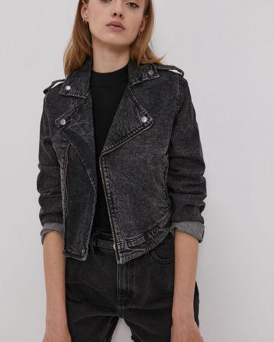 Szara kurtka jeansowa z kapturem bawełniana Jacqueline De Yong