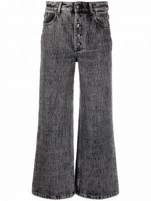 Серые хлопковые джинсы 8pm