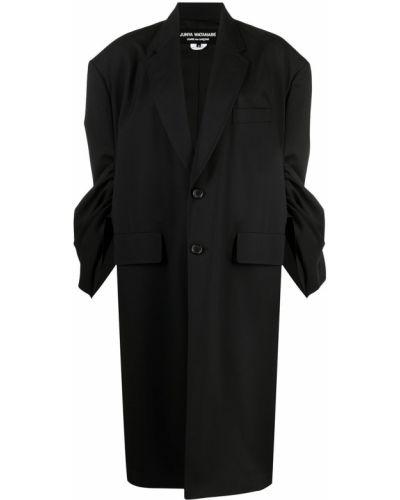 Шерстяное черное пальто Junya Watanabe