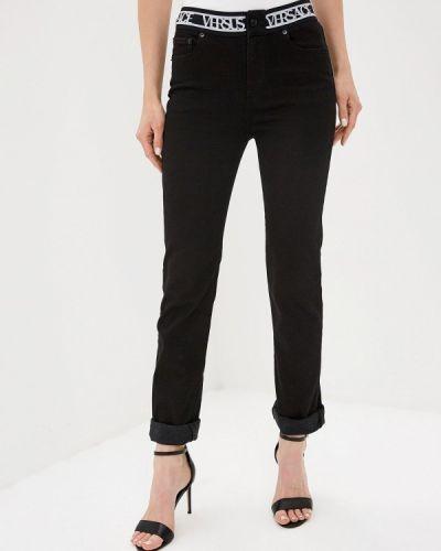 Черные джинсы-скинни с пайетками Versus Versace