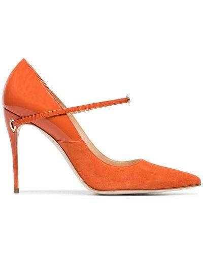 Оранжевые туфли-лодочки Jennifer Chamandi