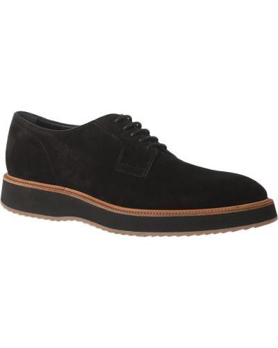 Кожаные туфли - черные Hogan