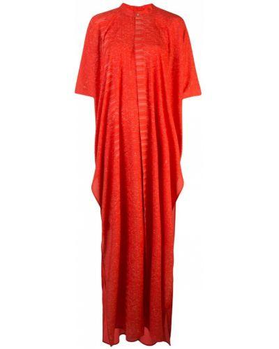 Платье макси короткое - красное Baja East