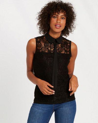 Черная блузка с бантом Morgan