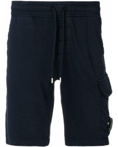 Синие хлопковые спортивные шорты C.p. Company