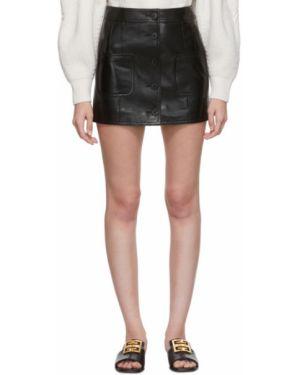 Юбка мини кожаная пачка Givenchy