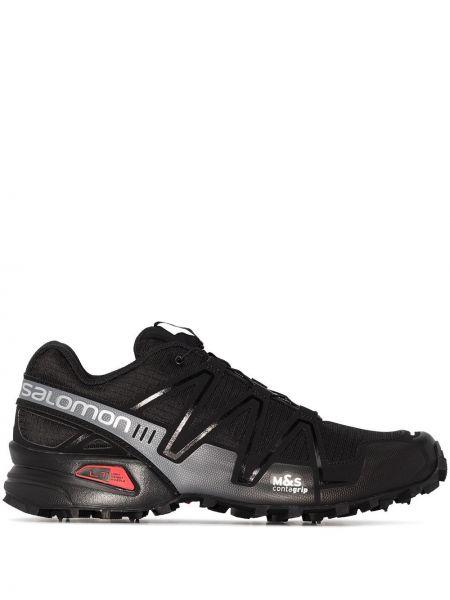 Кроссовки с логотипом - черные Salomon S/lab
