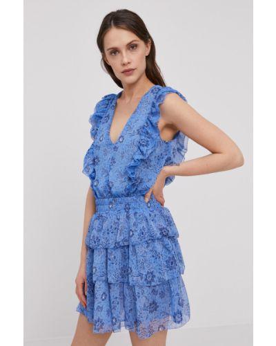 Niebieska sukienka jeansowa rozkloszowana materiałowa Pepe Jeans