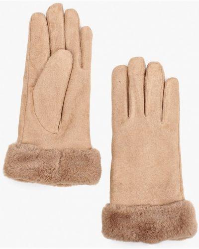 Текстильные бежевые перчатки Marks & Spencer