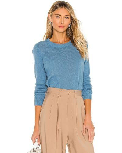 Ватный синий шерстяной свитер 360cashmere