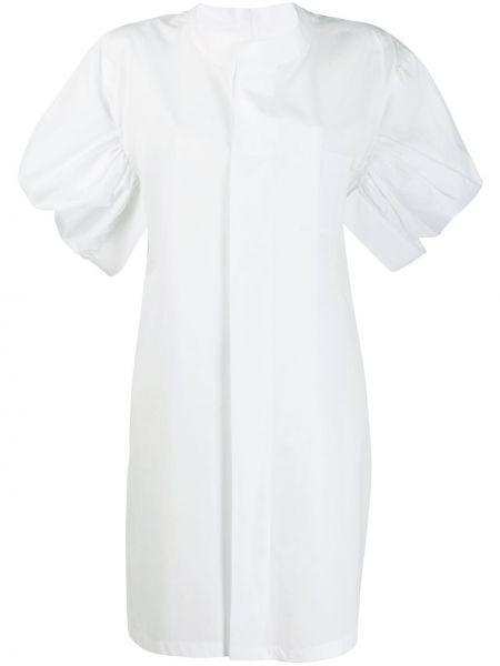 Biała sukienka mini krótki rękaw bawełniana Junya Watanabe