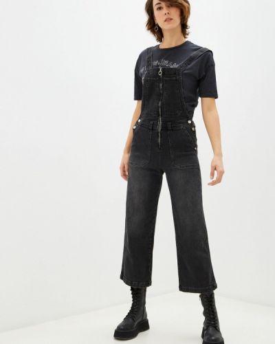 Черный джинсовый комбинезон Pepe Jeans