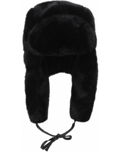 Czarna czapka z nausznikami Kangol