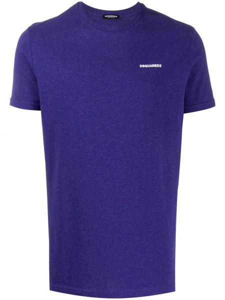 Koszula krótkie z krótkim rękawem z logo fioletowy Dsquared2