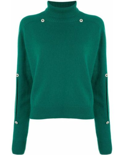 Зеленый с рукавами кашемировый джемпер Christopher Kane