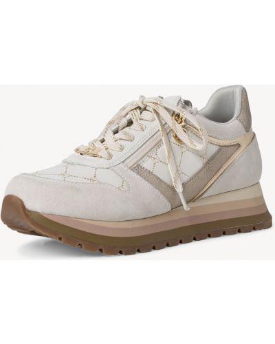 Белые ботинки на шнуровке Tamaris