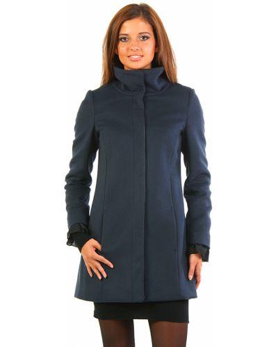Кашемировое пальто - синее Patrizia Pepe