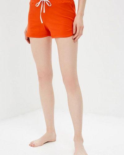 Оранжевые брюки домашние Modis