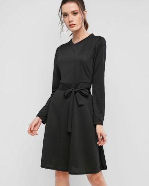 Платье макси с поясом длинное Zaful
