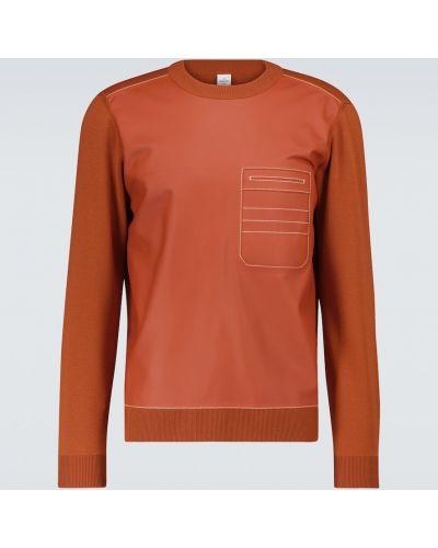 Pomarańczowy sweter wełniany Berluti