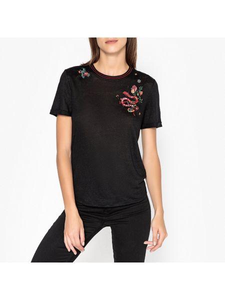 Футбольная классическая черная футболка с вышивкой Berenice