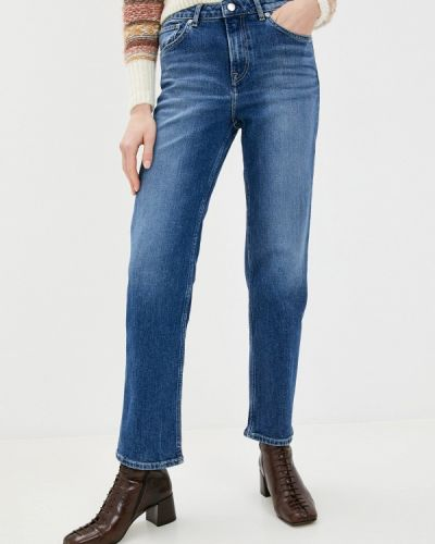Синие прямые джинсы Pepe Jeans