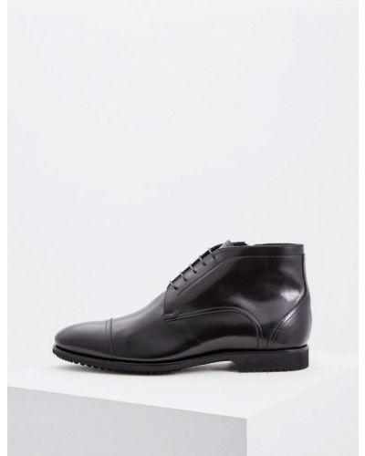 Ботинки осенние кожаные высокие Fabi
