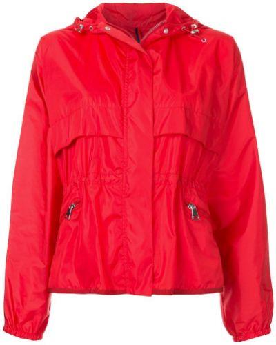 Куртка с капюшоном длинная с карманами на молнии Moncler
